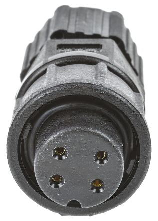 IP67 4 Way Circ Female Cable Conn Lock 5A