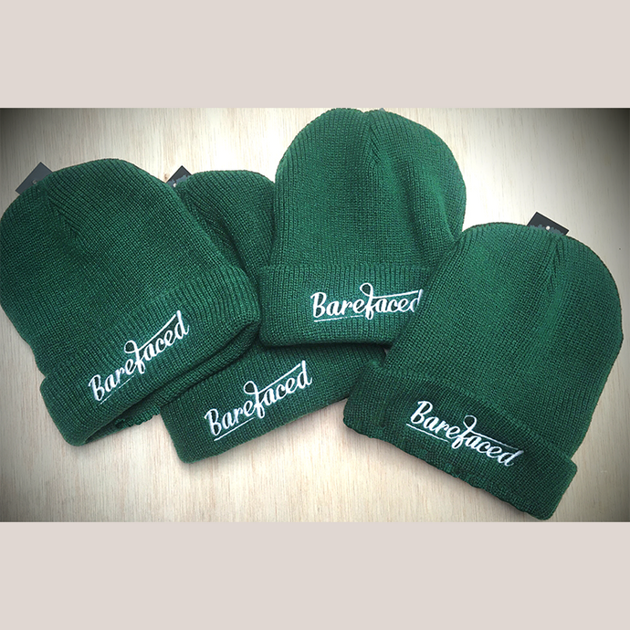 Official Barefaced Beanie Hat (Guitar badge)