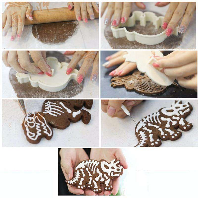 Fun Dinosaur Cookie Cutter Set - [RAWRIN' PREHISTORIC DESIGNS] - TTRShop.net - Awesome Items