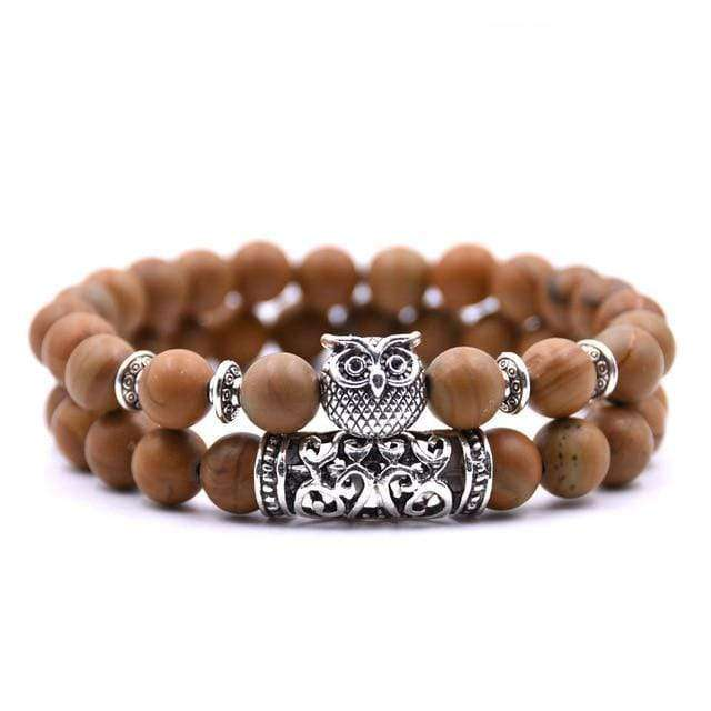 Natural Stone Owl Bracelet - TTRShop.net - Awesome Items