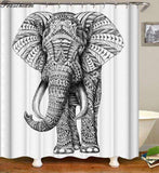 Stylish Elephant Print Shower Curtains - TTRShop.net - Awesome Items