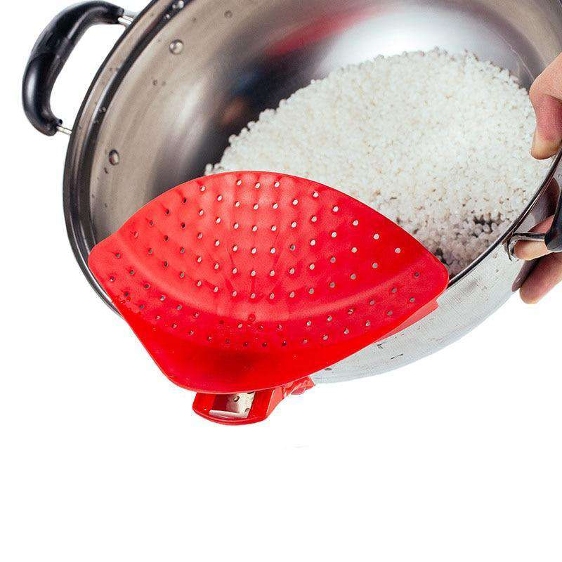 Pot Strainer Drainer [DUMP WATER WITHOUT DUMPING FOOD] - TTRShop.net - Awesome Items