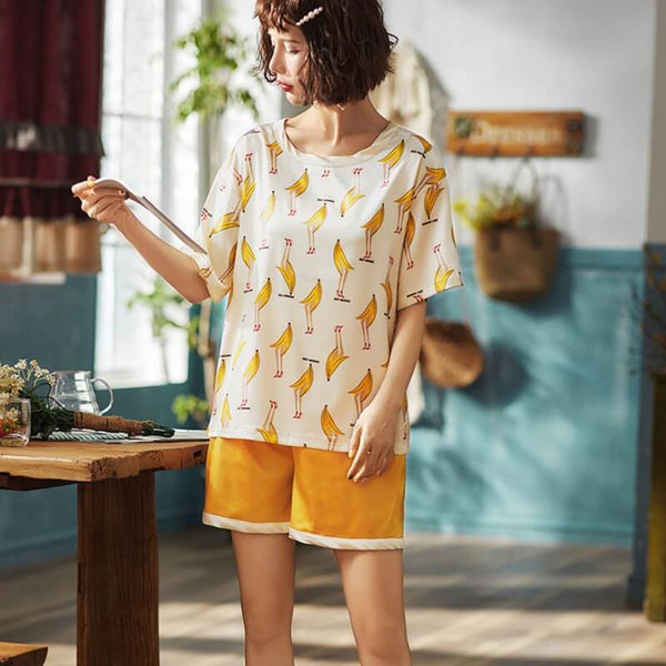 Cute Oversize Banana Cotton Pants & Shorts-Shorts-CharmsChic