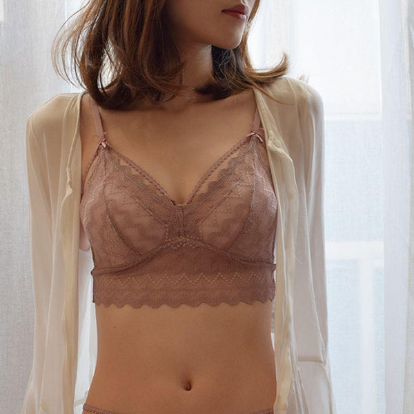 Elegant French Bralettes Sexy Bra-Triangles-CharmsChic
