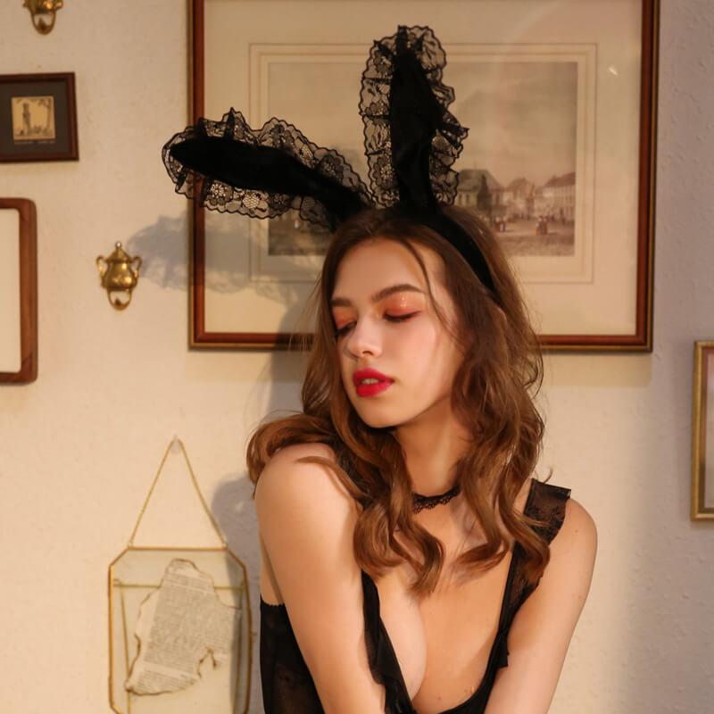 Hot Cute Lace Rabbit Ears-Body Accessories-CharmsChic