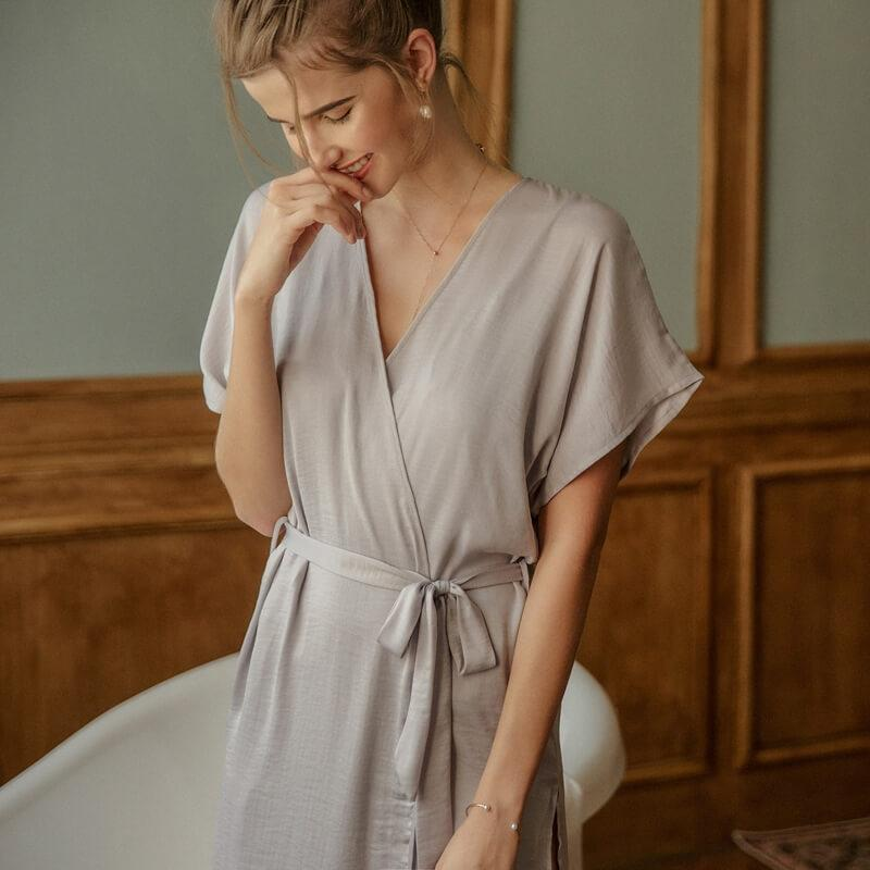Hot Tempt Slits Robe-Robes-CharmsChic