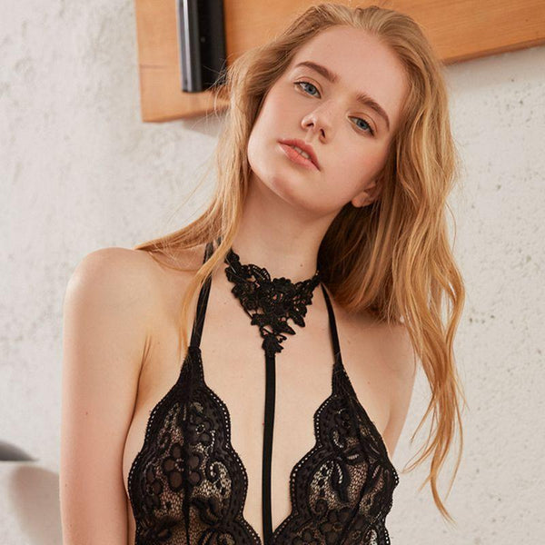 Sexy Black Lace Choker-Body Accessories-CharmsChic