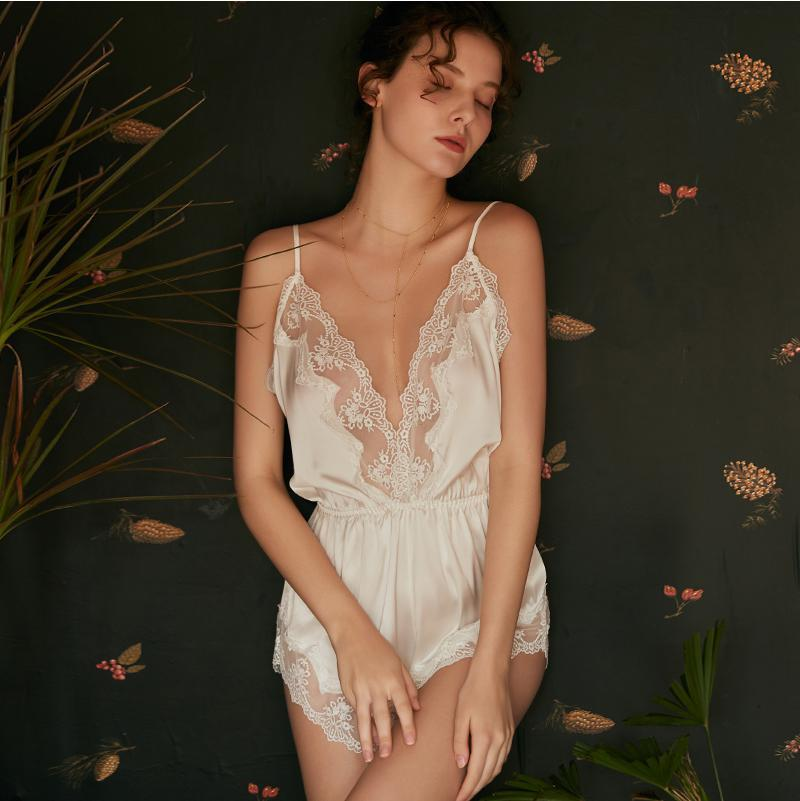 Sexy Lace Bodysuits-Bodysuits-CharmsChic