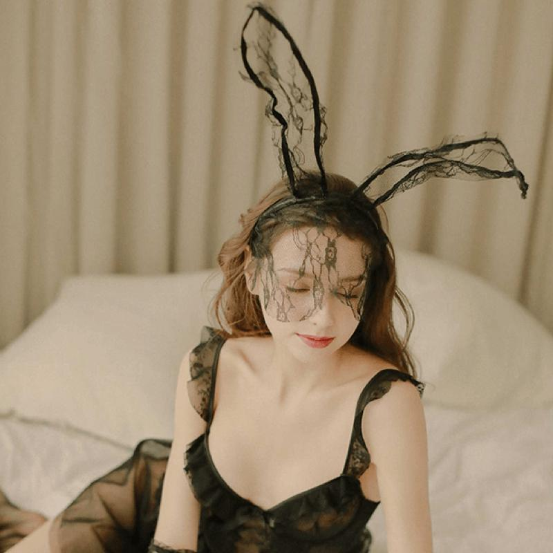 Sexy Lace Rabbit Ears Hair Accessories-Body Accessories-CharmsChic