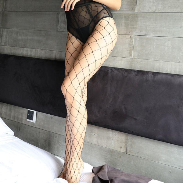 Sexy Wide Gap Fence Net Stockings-Stockings-CharmsChic