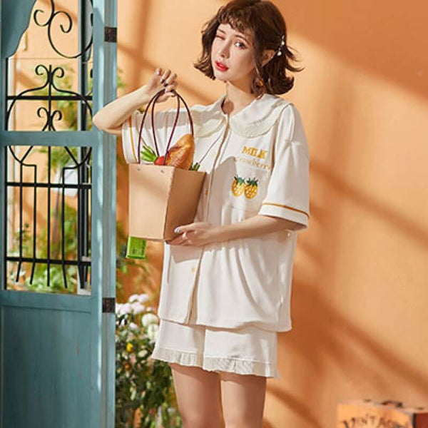 Summer Sweet Cartoon Sleepwear Set-Shorts-CharmsChic