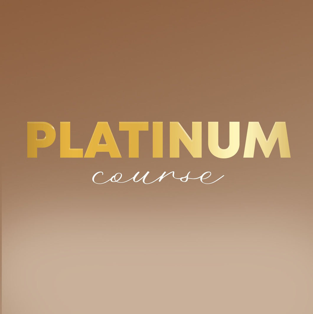 Platinum CoursePlatinum Course: Construction+ Customization (NON-REFUNDABLE DEPOSIT)