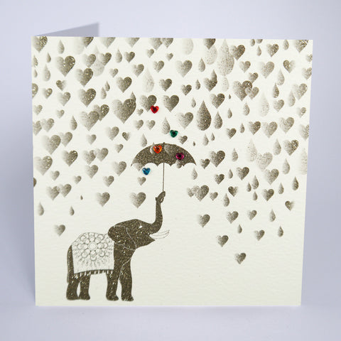 Elephant With Umbrella (No Caption)