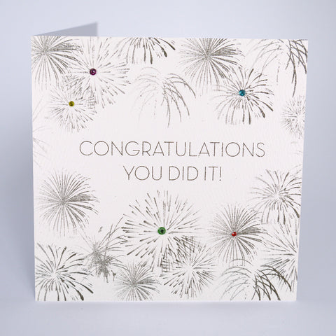 Congratulations You Did It!