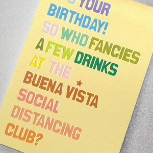Who fancies a few drinks at the Buena Vista Social Distancing Club