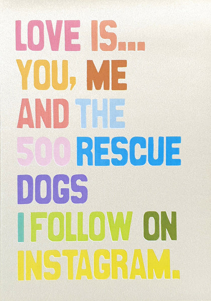 Love Is… You, Me and the 500 rescue dogs I follow on Instagram