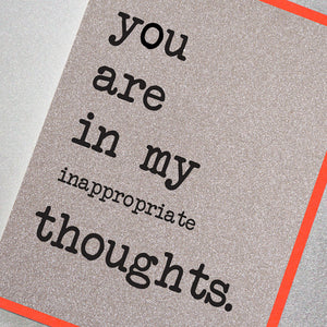 You Are In My Inappropriate Thoughts