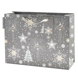 Shopper Bag (Landscape) - Snowflakes