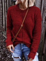 Casual Loose Round Neck Knitted Sweater