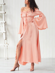 Chic Off Shoulder Long Sleeves Maxi Dress