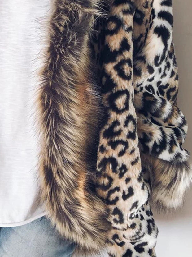 Fashion Ladies Leopard-print Slim Coat