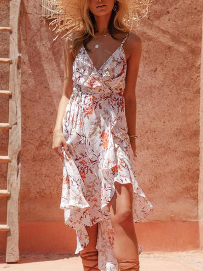 Chiffon resort bohemian dress