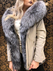 Fashion Faux Fur Hooded Splice Short Coat