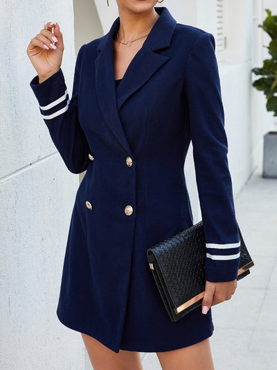 Fashion Womens Lapel Double-breasted Coats