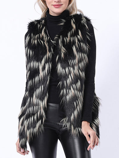 Casual Women's Winter Sleeveless Faux Fur Coats