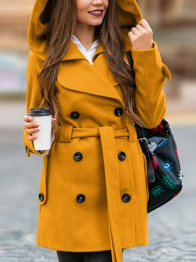 Women's Keep Slim Lapel Solid Coats
