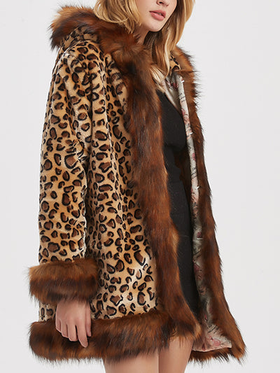 Hooded Faux Fur Keep-warm Coat