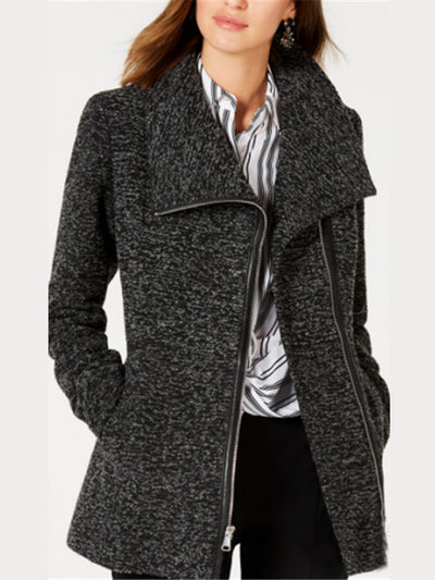 Lapel Zipper Warmest Winter Coats For Women