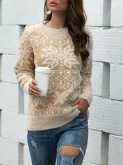 Xmas Female Snowflake Pullover Knit Sweater