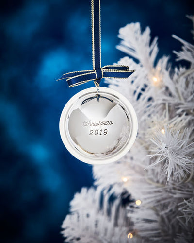 J T INMAN Sterling Silver 2019 Christmas Ball Ornament $195 FREE SHIPPING OR PICK UP - GLOW ON SUNSET