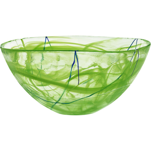 KOSTA BODA Contrast Large Crystal Bowl Lime - GLOW ON SUNSET