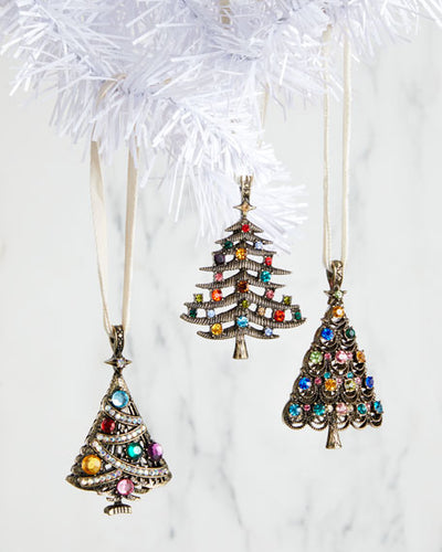 JOANNA BUCHANAN Jeweled Trees Set of 3 $68 FREE SHIPPING OR PICK UP - GLOW ON SUNSET