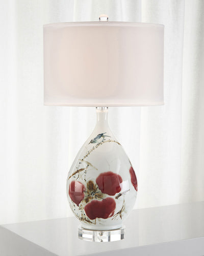 JOHN-RICHARD COLLECTION Traditional Hand Painted Ceramic Table Lamp - GLOW ON SUNSET