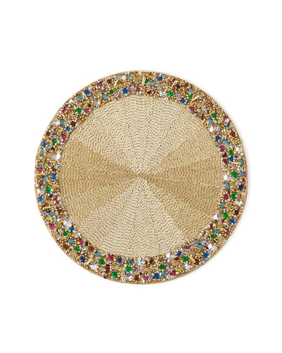 KIM SEYBERT Bejeweled Placemats Set Of 4 $395 FREE SHIPPING OR PICK UP - GLOW ON SUNSET