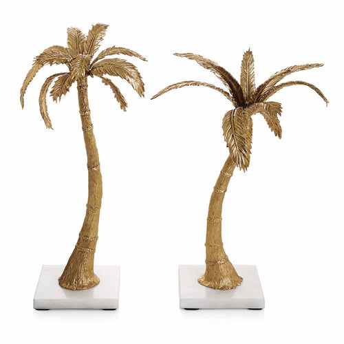 MICHAEL ARAM Palm Candleholders Mixed Pair - GLOW ON SUNSET