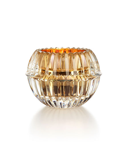 BACCARAT Crystal Mille Nuits Gold Votive by Mathias Single - GLOW ON SUNSET