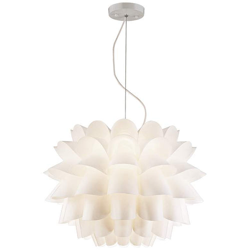 POSSINI Euro Design White Flower Pendant Chandelier - GLOW ON SUNSET