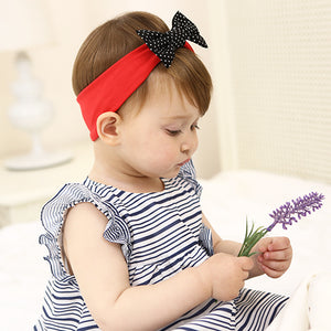 Black Bow-Knot In Red Headband - BabyLand.my