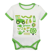 Load image into Gallery viewer, MomsCare Graphics Bodysuit (Green Tractor) - BabyLand.my