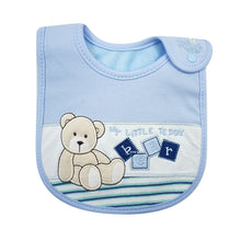 Load image into Gallery viewer, MomsCare Little Teddy Blue Bib - BabyLand.my