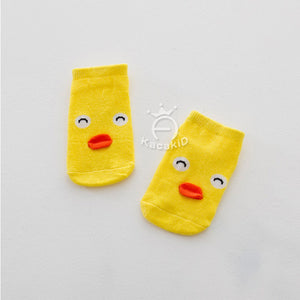 Kacakid Baby Animals Short Socks (Yellow Chick) - BabyLand.my