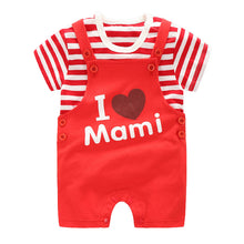 Load image into Gallery viewer, I Love Mami Strappy Romper Set - BabyLand.my