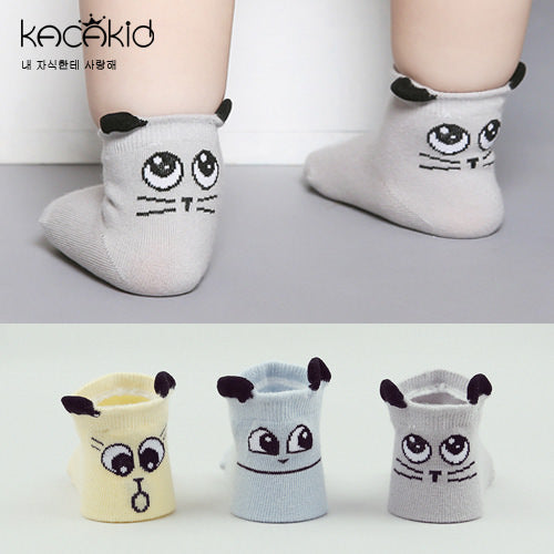 Kacakid Rolling Kitten Eyes Short Socks - BabyLand.my