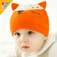 Load image into Gallery viewer, GZMM Wolf Crochet Baby Beanie Hat - BabyLand.my
