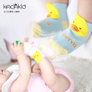 Kacakid 3D Ducky Short Socks (3 colors) - BabyLand.my
