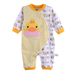 First Movements Swimming Duck Graphic Romper - BabyLand.my